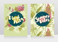 Deux bannières pour la partie de vinyle d'été Photos stock