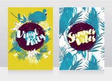 Deux bannières pour la partie de vinyle d'été Image stock