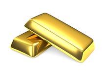Deux bars d'or Images libres de droits