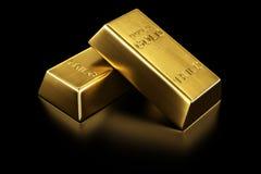 Deux bars d'or illustration libre de droits