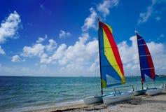 Deux bateaux à voiles Image stock