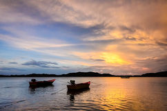Deux bateaux de pêche Image libre de droits