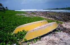 Deux bateaux jaunes Images libres de droits