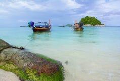 Deux bateaux sur la mer Images libres de droits