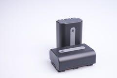 Deux batteries au lithium Photographie stock libre de droits