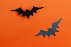 Deux battes comme fond de Halloween Image stock