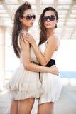Deux beautés de brunette photos stock