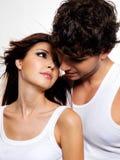 Deux beaux amoureux Photographie stock libre de droits