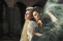 deux belles dames Images stock