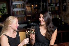Deux belles femmes se grillant Image libre de droits