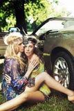 Deux belles filles Photo stock