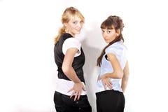 Deux belles filles sexy et souriantes Photos libres de droits
