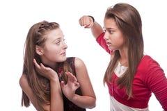 Deux belles jeunes adolescentes Photos libres de droits