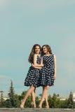 Deux belles soeurs de fille Images libres de droits