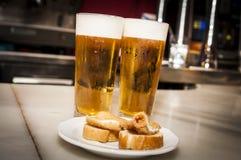 Deux bières Images libres de droits