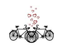 Deux bicyclettes Images libres de droits