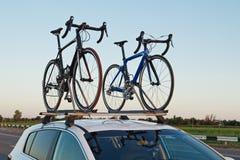 Deux bicyclettes Photographie stock