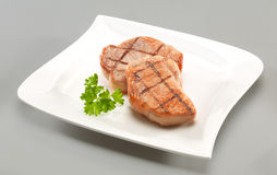 Deux biftecks de boeuf Photo stock