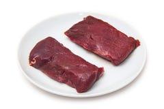 Deux biftecks de viande de chameau Photos libres de droits