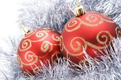 Deux billes de Noël Photos stock