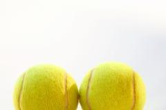 Deux billes de tennis Images libres de droits