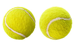 Deux billes de tennis d'isolement Image stock