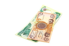 Deux billets de banque irakiens Image libre de droits