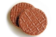 Deux biscuits de chocolat image libre de droits