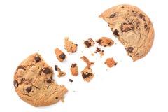 Deux biscuits de puce de chocolat Photographie stock libre de droits