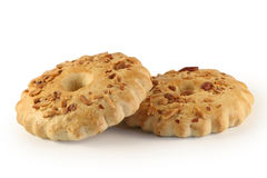 Deux biscuits secs. Image libre de droits