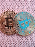 Deux bitcoins Photos libres de droits