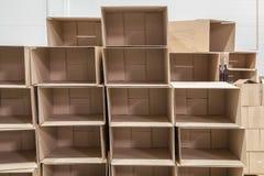 Deux boîtes en carton Image libre de droits