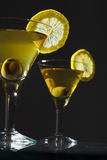 Deux bocals de martini Photos libres de droits