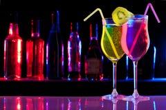 Deux boissons de rafraîchissement Photos libres de droits