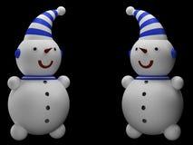 Deux bonhommes de neige Photos libres de droits