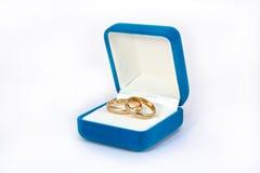 Deux boucles de mariage Photographie stock libre de droits