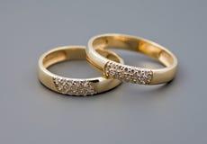 Deux boucles de mariage Images stock