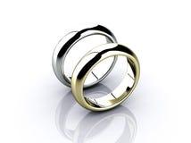 Deux boucles de mariage Photo libre de droits