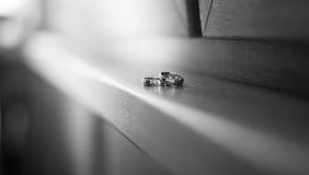 Deux boucles de mariage Images libres de droits