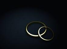 Deux boucles de mariage illustration stock