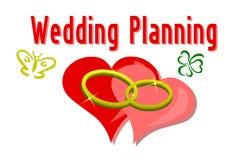 Deux boucles de mariage sur un fond de coeur Photos libres de droits