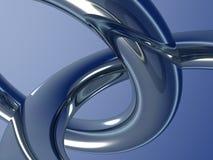 Deux boucles en métal Photographie stock