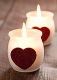 Deux bougies Photo libre de droits