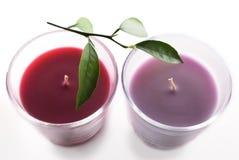Deux bougies Image libre de droits