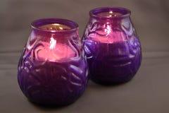 Deux bougies Photographie stock libre de droits