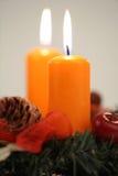 Deux bougies Photos stock