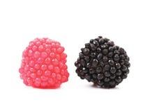 Deux boules colorées par jujube Photographie stock libre de droits