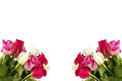Deux bouquets avec des roses photos stock