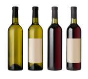 Deux bouteilles d'étiquettes Photographie stock libre de droits