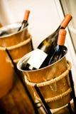 Deux bouteilles de champagne Photographie stock libre de droits